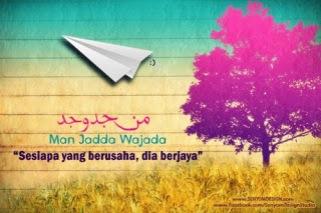 Man Jadda Wajada, jika memang jalanku insyaallah aku juga bisa mengubah pesawat kertas itu menjadi nyata bersama cita-cita