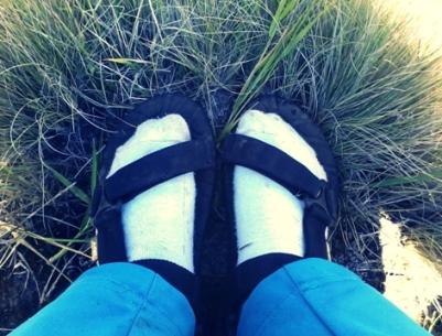 "Akhirnya Petualangan Sandal ""Sakti"" sampai puncak Merbabu :)"
