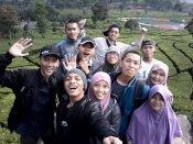 Selfie di Kebun Teh Ciwidew