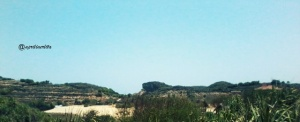 The hills in Krakal Beach