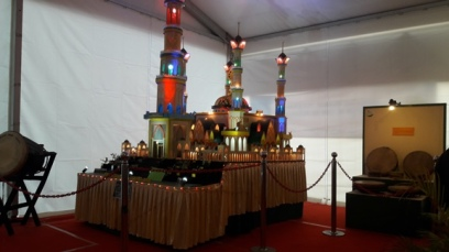The miniatur of the biggest Islamic Center and Mosque in West Nusa Tenggara