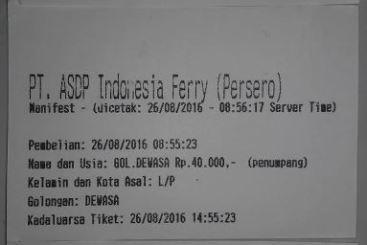 Tiket Kapan Ferry penyebrangan Lembar - Padang Bay